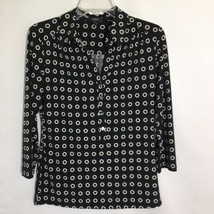 Black/White Circle Blouse